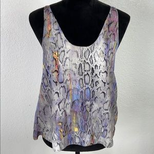 RACHEL ROY Snakeskin Top